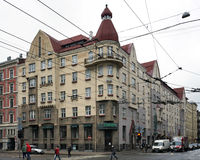 Riga Aleksandra Caka 55 gata, historiska byggnader Fotografering för Bildbyråer