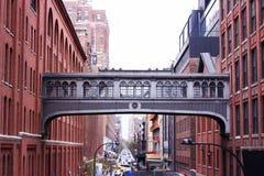 Riga alta a New York Fotografia Stock