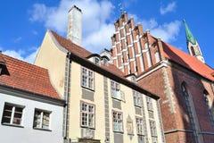 Riga-alte Stadt Stockbild