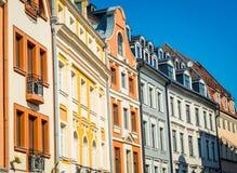 Riga. Architecture on Tirgonu street in the Old Town of Riga, Latvia Stock Photo