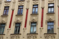 Riga, art noveau district Royalty Free Stock Image