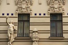 Riga, art noveau district Stock Images