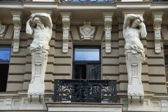 Riga, art noveau district Stock Photos