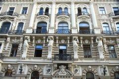 Riga, art noveau district Royalty Free Stock Photos