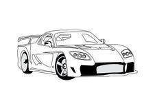 Riga arte dell'automobile royalty illustrazione gratis