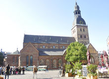 Riga august 22 2014 - Cathedral view from Riga in Latvia Stock Photos