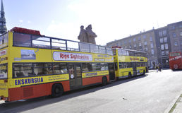 Riga august 22 2014 - Downtown bus from Riga in Latvia royalty free stock image