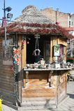 Riga august 22 2014 - Downtown kiosk from Riga in Latvia stock photos