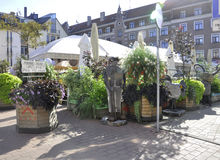 Riga august 22 2014 - Downtown terrace from Riga in Latvia Royalty Free Stock Photography