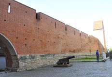 Riga august 22 2014 - Fortress Wall from Riga in Latvia Royalty Free Stock Photo
