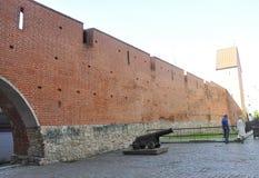 Riga august 22 2014 - Fortress Wall from Riga in Latvia royalty free stock photo