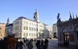 Riga august 22 2014 - Historic Building from Riga in Latvia stock photo