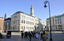 Riga august 22 2014 - Historic Building from Riga in Latvia royalty free stock photo