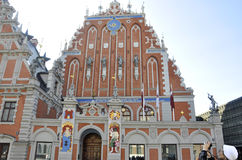 Riga august 22 2014 - House of Blackhead from Riga in Latvia stock images
