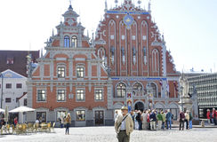 Riga august 22 2014 - House of Blackhead from Riga in Latvia Royalty Free Stock Photo