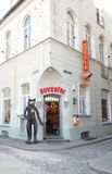 Riga august 22 2014 - Souvenirs Shop in Downtown from Riga in Latvia royalty free stock photos