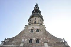 Riga 22 Augustus 2014-Basillica St Peters van Riga in Letland Royalty-vrije Stock Afbeeldingen
