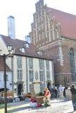 Riga 22 Augustus 2014-historische Gebouwen van Riga in Letland Stock Afbeeldingen
