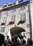 Riga 22 Augustus 2014-historische Gebouwen van Riga in Letland Royalty-vrije Stock Foto