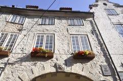 Riga 22 Augustus 2014-historische Gebouwen van Riga in Letland Royalty-vrije Stock Foto's