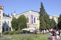 Riga 22 Augustus 2014-historische Gebouwen van Riga in Letland Stock Foto's