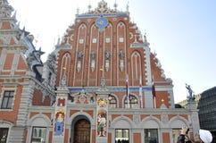 Riga 22 augustus 2014 - Huis van Meeëter van Riga in Letland Stock Afbeeldingen