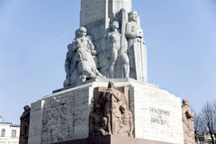 Riga.  A bas-relief of a monument of Freedom. Royalty Free Stock Photos