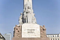 Riga.  A bas-relief of a monument of Freedom. Stock Photography