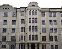 Riga Baznicas 46, Art Nouveau, fasadbeståndsdelar Fotografering för Bildbyråer
