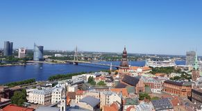 Riga from a bird`s eye view Royalty Free Stock Images