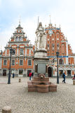Riga - Blackheads House and Roland royalty free stock images