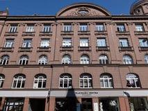 Riga, Blaumanja 5а, detalhes da fachada Foto de Stock Royalty Free