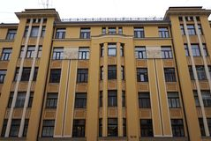 Riga, Blaumanja 16-18, façade de Nouveau photo stock
