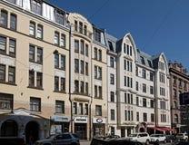 Riga Blaumanja 3-5, modern jugendstil Arkivbild