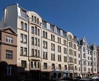 Riga Blaumanja 3-5, modern jugendstil Royaltyfri Foto