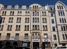 Riga Blaumanja, modern jugendstil Arkivfoto