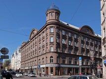 Riga, Blaumanja 5a, neoclassicism stock foto