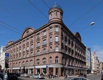 Riga, Blaumanja 5a, neoclassicism och jugendstil Royaltyfria Foton
