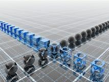 Riga blu industriale Fotografie Stock Libere da Diritti