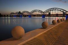 Riga bro Royaltyfria Foton