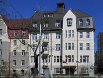 Riga, bulevar 8, art déco de Kronvalda Fotografía de archivo