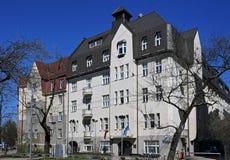 Riga, bulevar 8, art déco de Kronvalda Foto de archivo libre de regalías