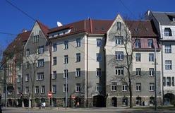 Riga, bulevar 10, romanticismo nacional de Kronvalda Fotos de archivo libres de regalías