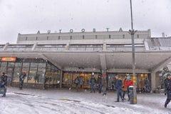 Riga Bus Station Royalty Free Stock Photo