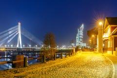 Riga. Cable-stayed Bridge Royalty Free Stock Photo