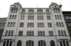 Riga, calle 27 de Matisa, moderna Foto de archivo libre de regalías