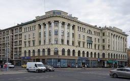 Riga, calle 38, ecléctica, arquitecto Ernest Pole, 1911 de Elizabetes Foto de archivo