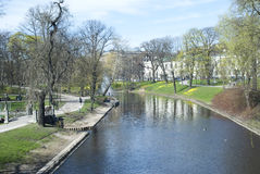 Riga Canal Royalty Free Stock Images
