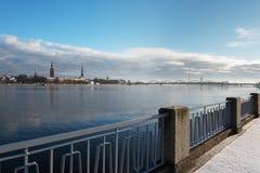 Riga, capital de Letónia Fotos de Stock Royalty Free