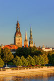 Riga, the capital of Latvia by the Daugava river Stock Image